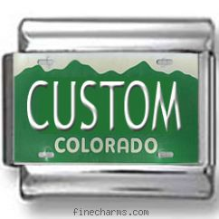 Colorado License Plate Custom Charm
