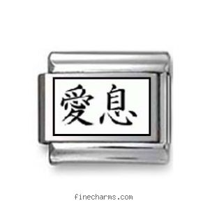 "Kanji Symbol ""Beloved son"". Cancer bracelets stretchy charm."