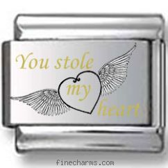 You Stole My Heart Laser Charm